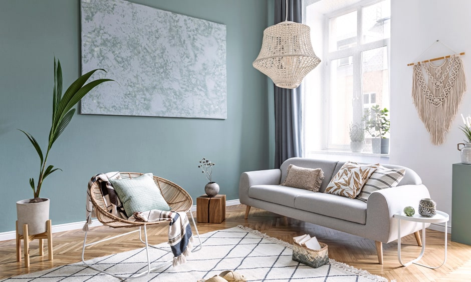 Paintings are a great way to make your studio apartment stand out
