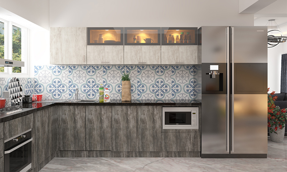 Kitchen backsplash blue and white Moroccan tiles is the simplicity of colours, patterns and textures used in the design.