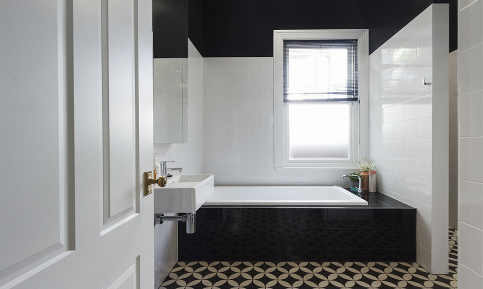 Patterned Moroccan tile for the bathroom makes all the difference to its design and Moroccan tiles work well.