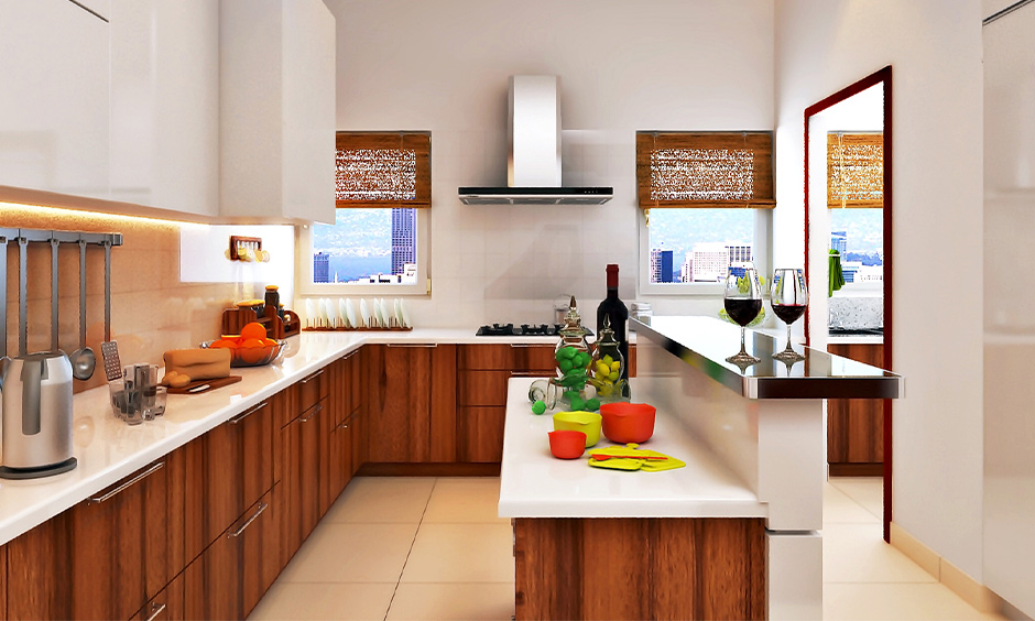 Wooden modular kitchen to create a homely and inspiring space
