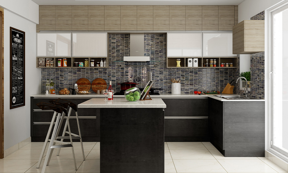 Dark black backsplash tile for your home