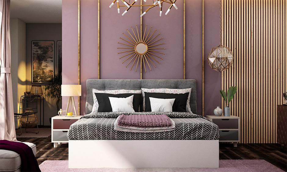 Bedroom painted in a fresh coat of light tones brings positive energies is the paint for bedroom according to Vastu.