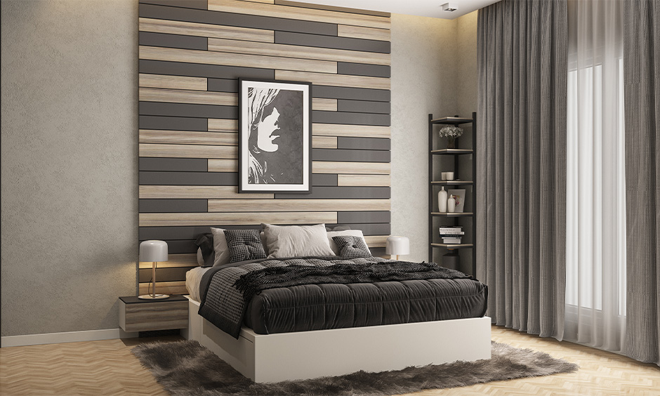 A bed placed along the central part of the wall for positive energy is the position of bed in bedroom Vastu recommends.