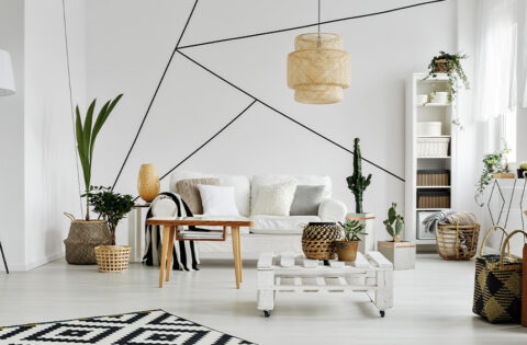 Geometric wall designs with paint for your home