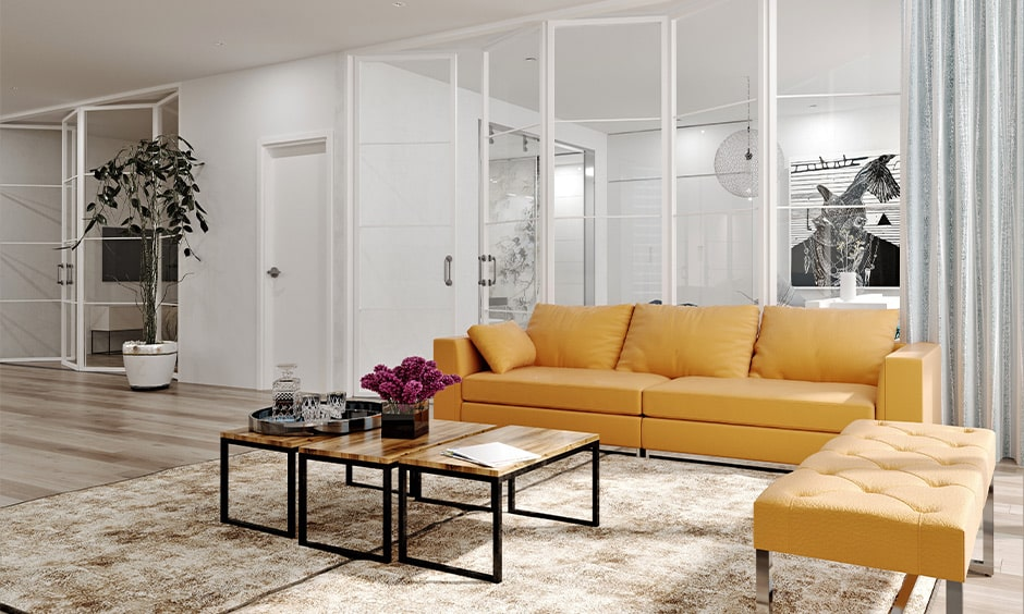 Folding glass partition doors for your living room