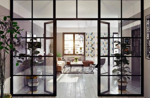 Glass partition for your living room