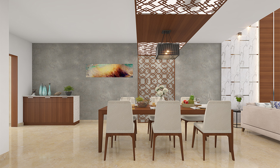 The dining room should locate either in the north-west or south-east corner in the east facing house plan as per Vastu.
