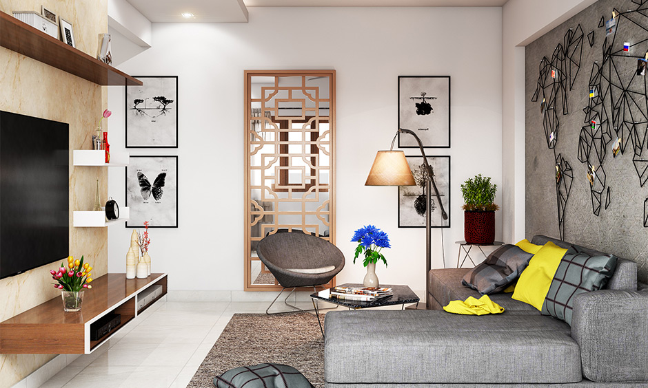 This living room in the north-east corner brings in positive vibes and is east facing house Vastu for the living room.