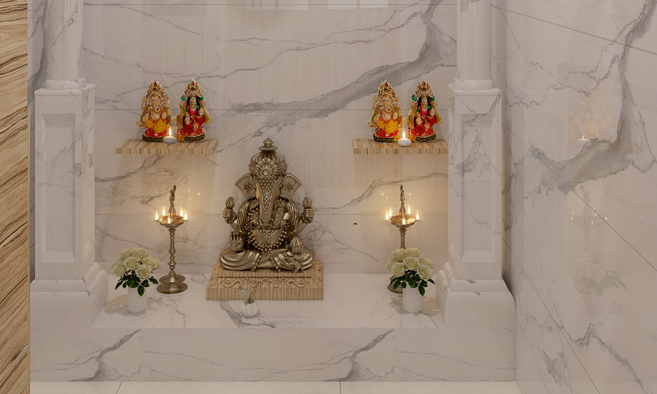 The pooja room in the north-east direction is pure and sacred space is the pooja room Vastu for east facing  the house.