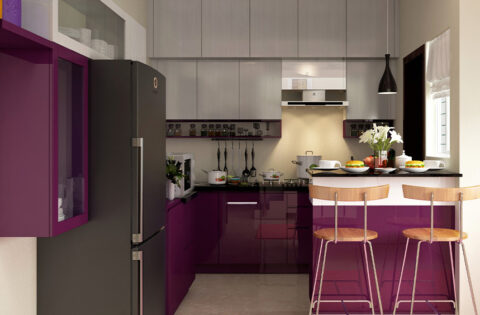 Types and uses of pvc modular kitchen cabinets