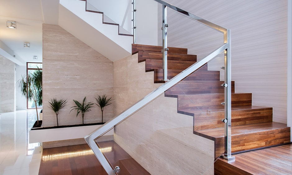 Stainless steel and glass staircase design ideas for your home