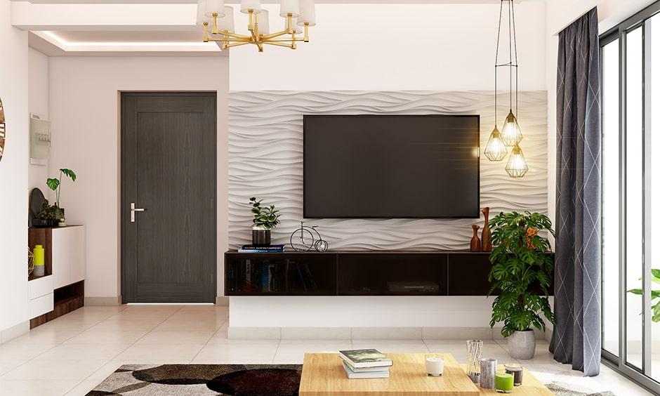 Minimalist tv panel design for living room tv