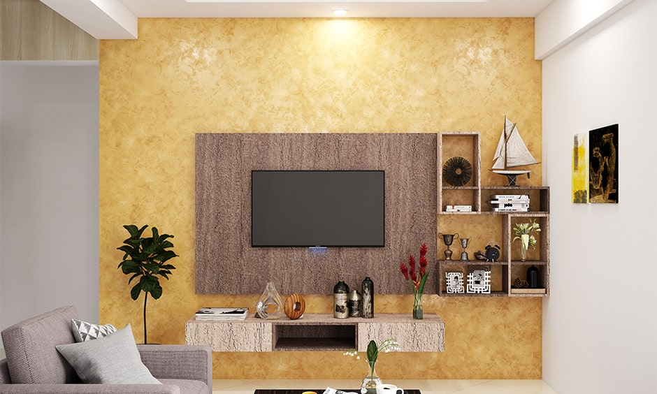 Rustic tv panel design for your living room