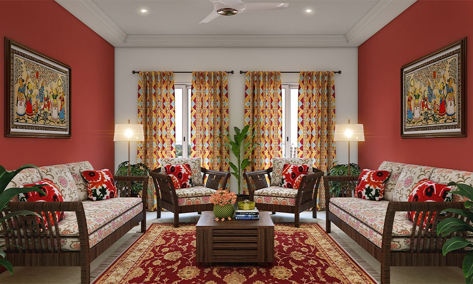 Rajasthani textiles for your home interiors makes beautiful rajasthani style home design