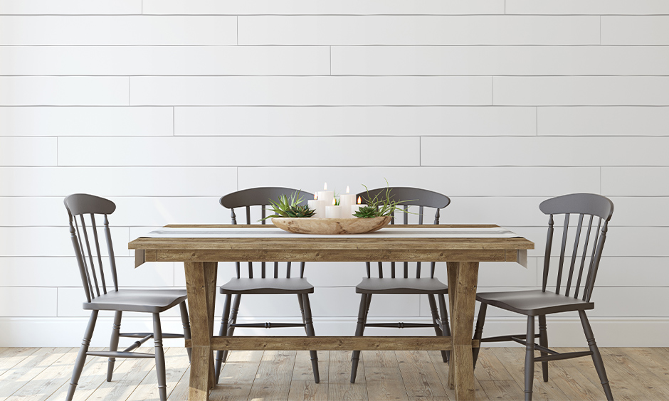 How to decorate dining table  with earthy elements which can be too overwhelming for some for dining table decor