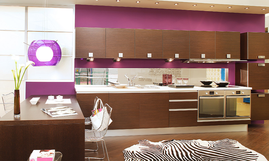 purple modular kitchen design for your home