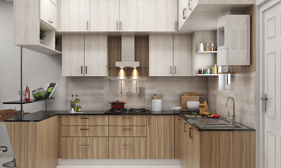 Contemporary kitchen plywood design for your home