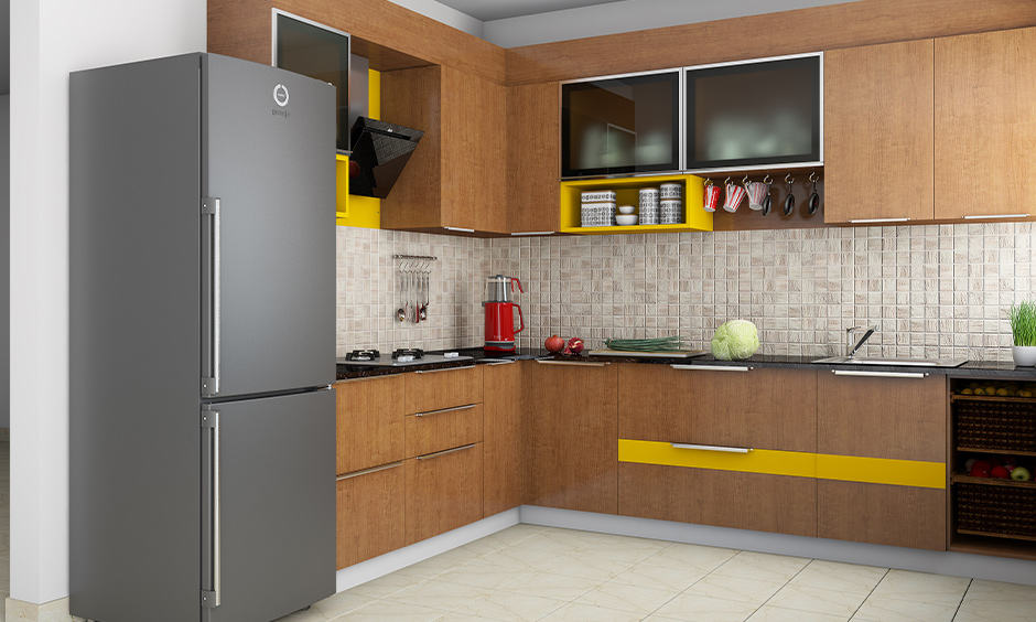 Luxe kitchen plywood design suits all kitchen sizes