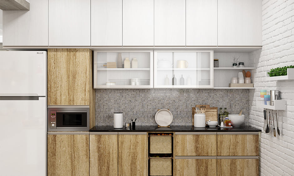Plush kitchen plywood design gives a rich look and feel