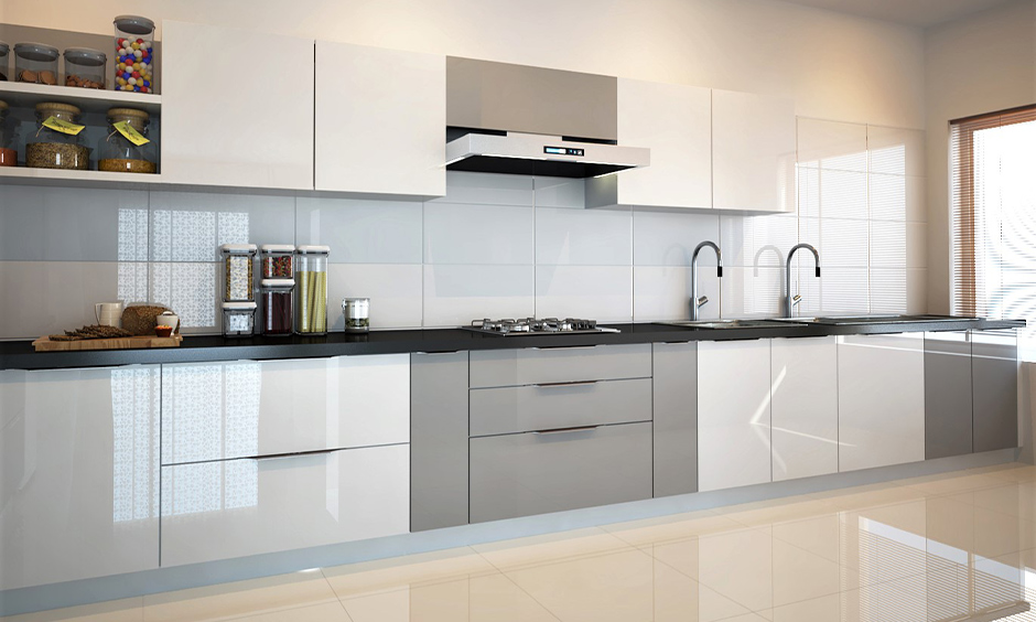 Aluminium profile shutter for the kitchen is exceptionally sturdy and lends a delicate appearance to kitchen interiors.