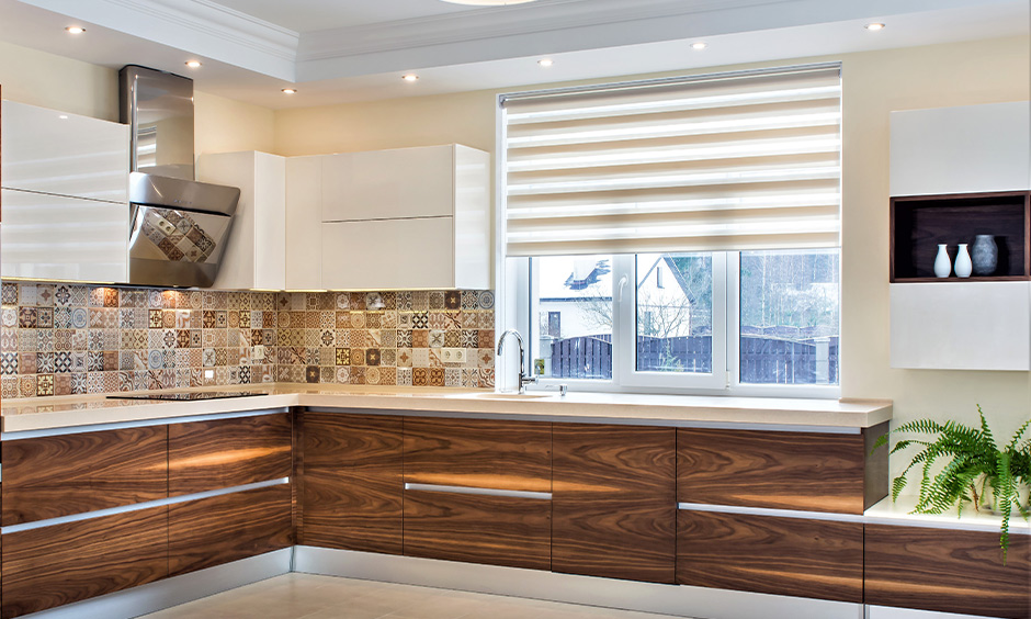 Veneer kitchen shutters give a classic and royal vibe to the kitchen and durable.