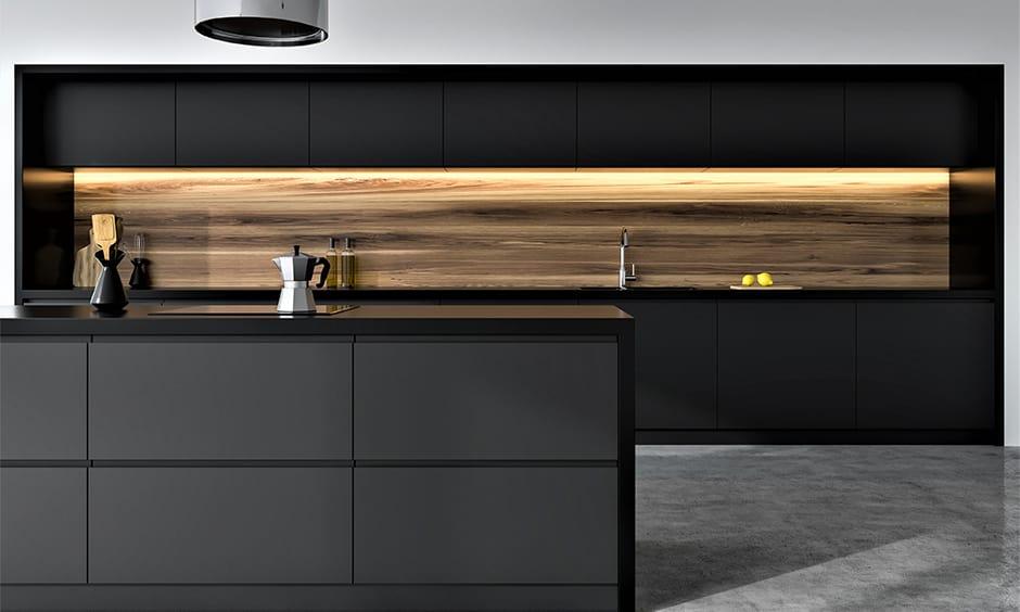 Minimalistic black and grey kitchen design ideas