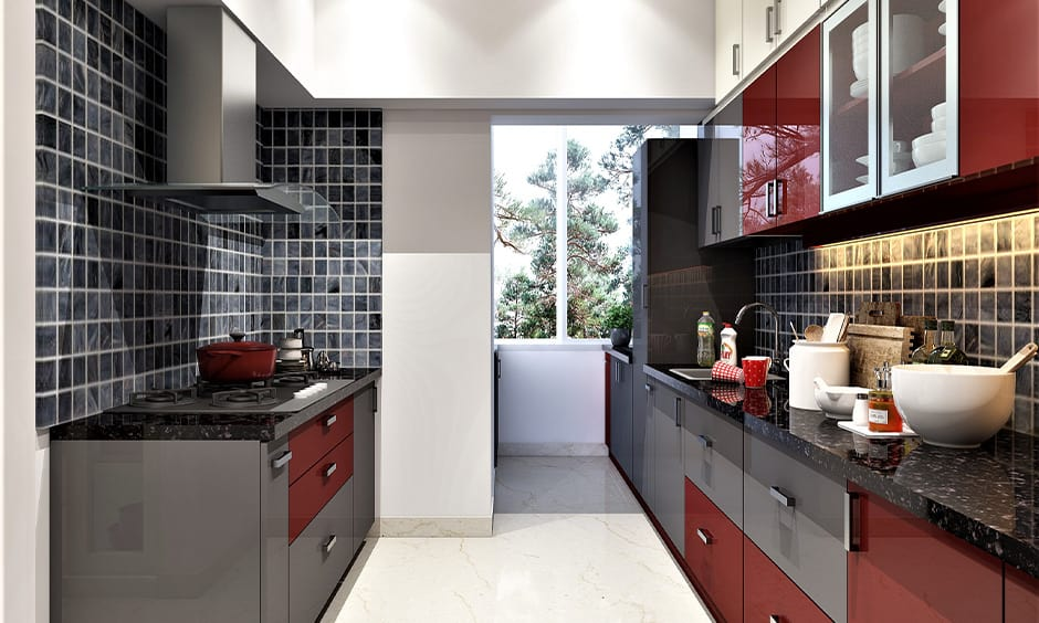 Red and black kitchen design ideas for your home