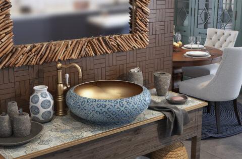 Elegant wash basin designs for dining room