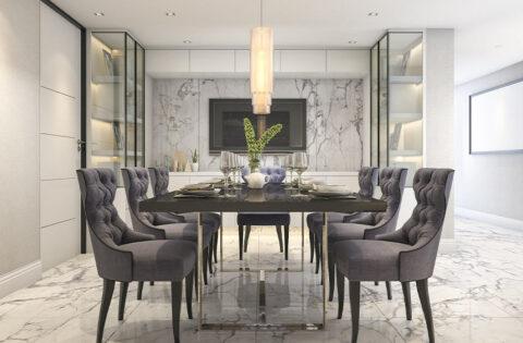 Marble versus tiles for flooring