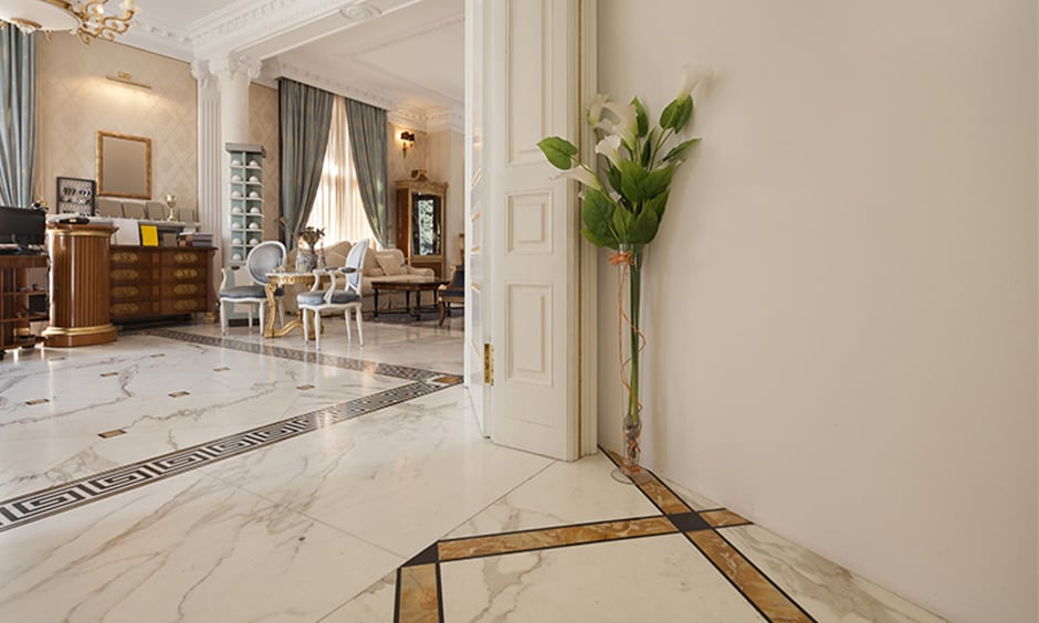 Marble vs tiles - with proper maintenance, marble flooring can outlast tiles