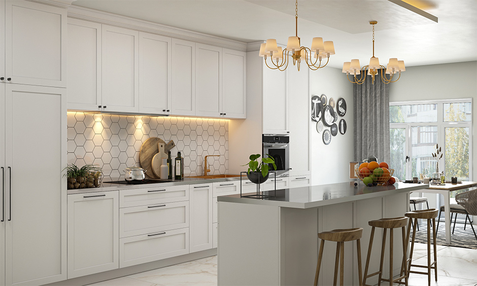 kitchen island with stainless steel countertop design for your home