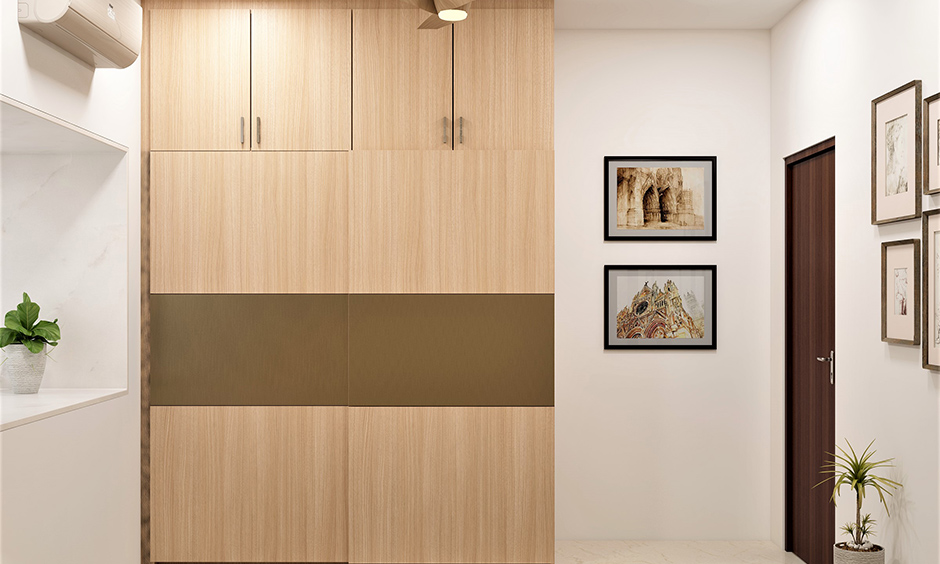 Vastu for wardrobe in master bedroom with light colour shades which can spread more positivity