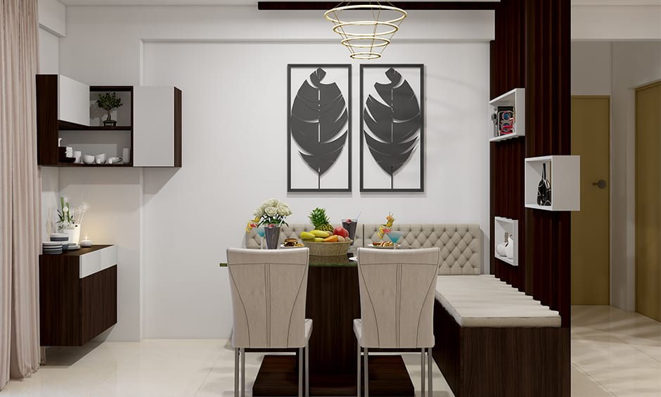Functional wooden partition design for small and medium size homes