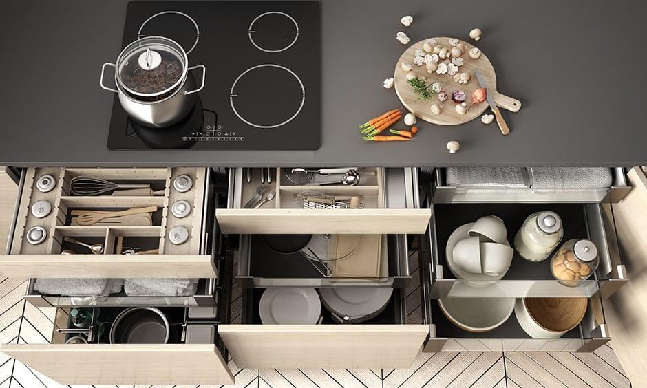 Kitchen cabinet drawers organization ideas