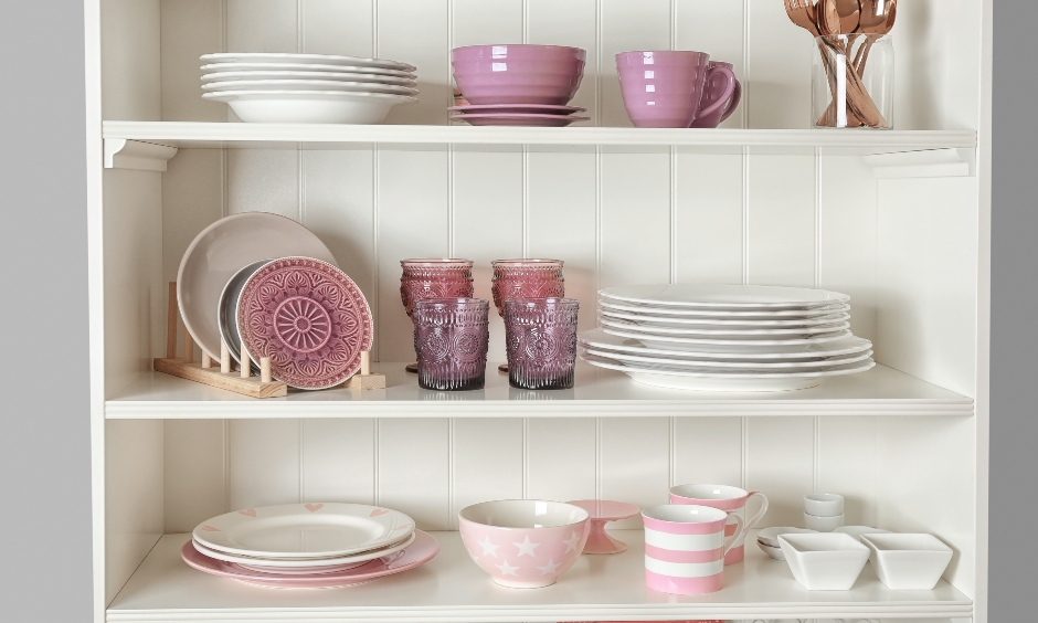 Grouping things that are alike is both practical and aesthetically appealing is the way how to organize kitchen cabinets.