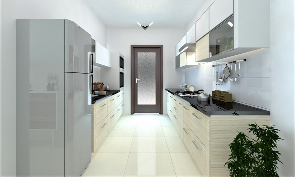 Frosted glass kitchen door designs for both beauty and privacy in their kitchen area