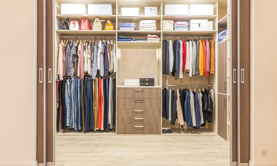How to clean wardrobe laminates which has a lot of belongings to wardrobe cleaning