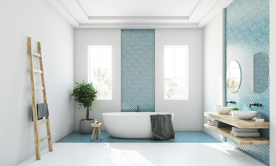Bathroom false ceiling idea, minimal false ceiling elegantly designed.
