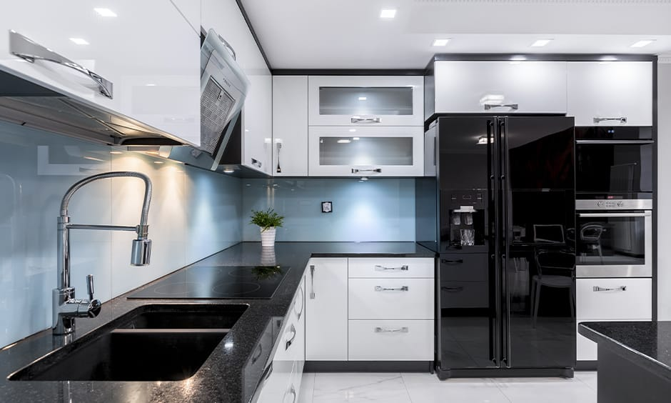 Black granite kitchen countertops colors for your home