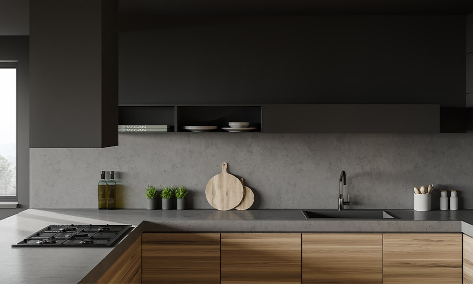 Grey kitchen countertops colors for modern kitchen