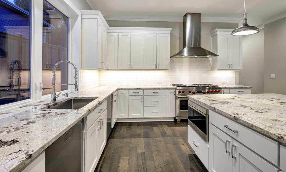 White kitchen granite countertops colors