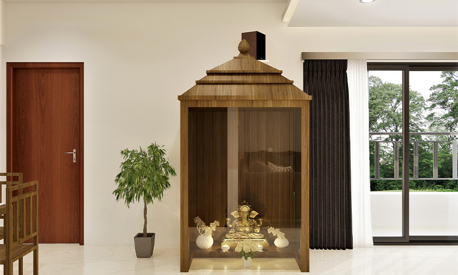 How to decorate pooja room by choosing a distinctive door design for it