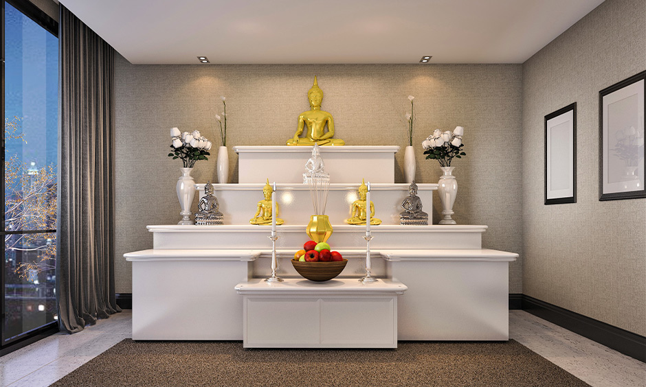 How to decorate pooja room with flowers