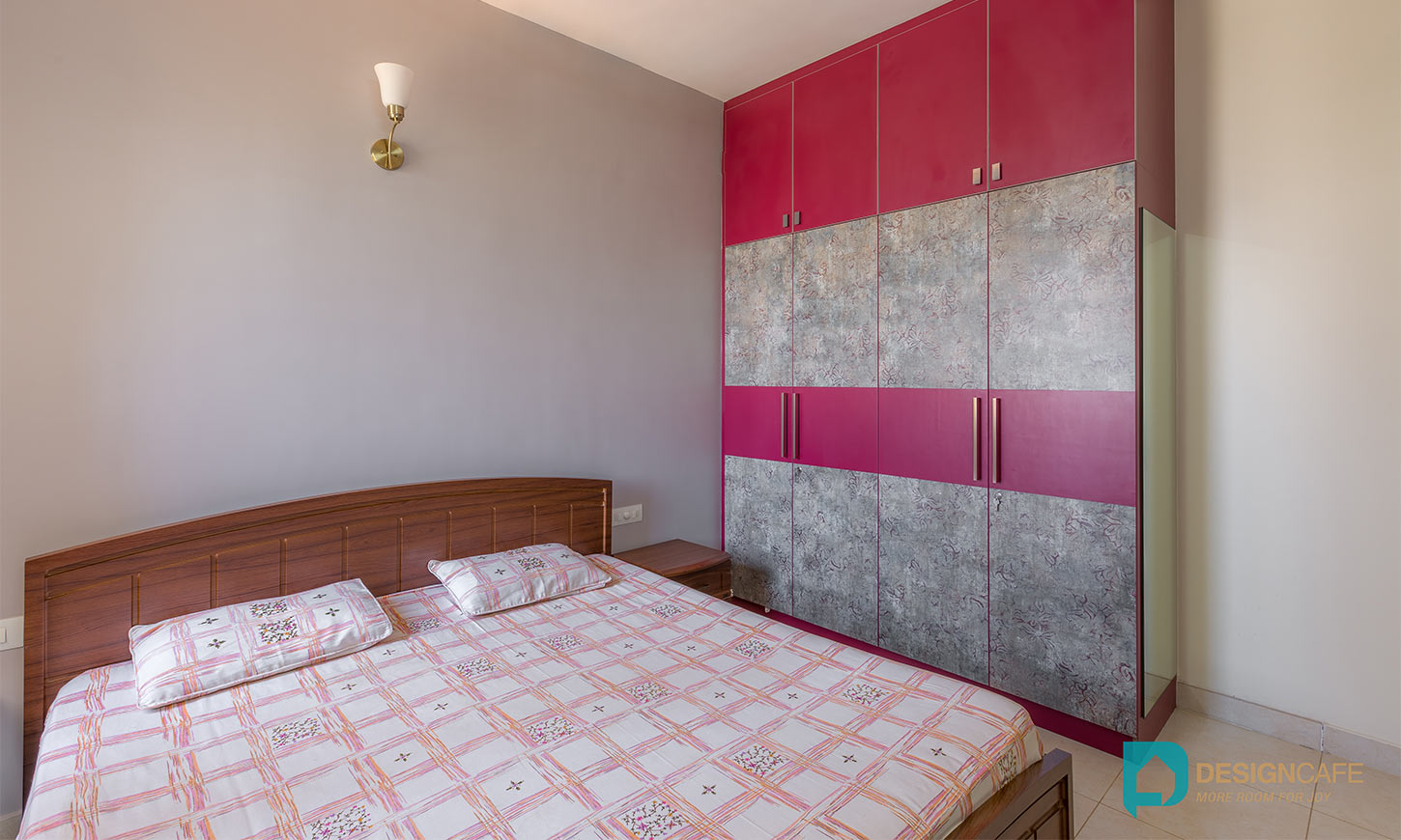 Bedroom designed by design cafe which is one of the best home interiors bangalore