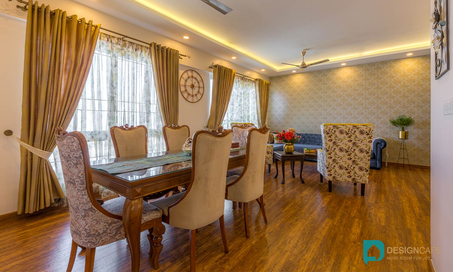 Dining area designed by best residential interior designers in bangalore