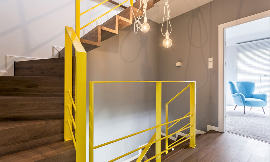 Staircase colour ideas with pocketful of sunshine