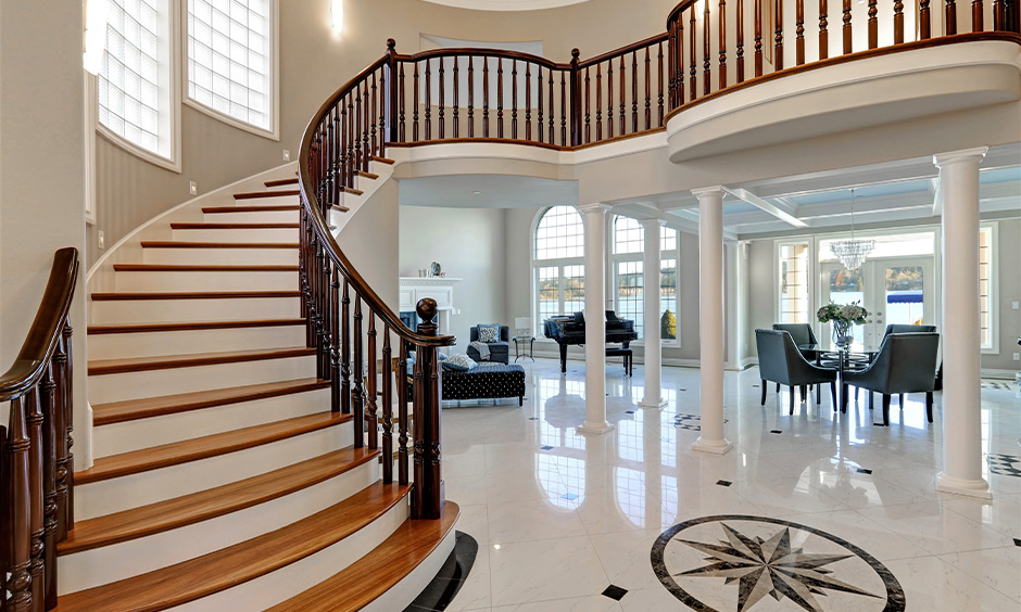 Royal and elegant staircase colour is a masterpiece of sorts