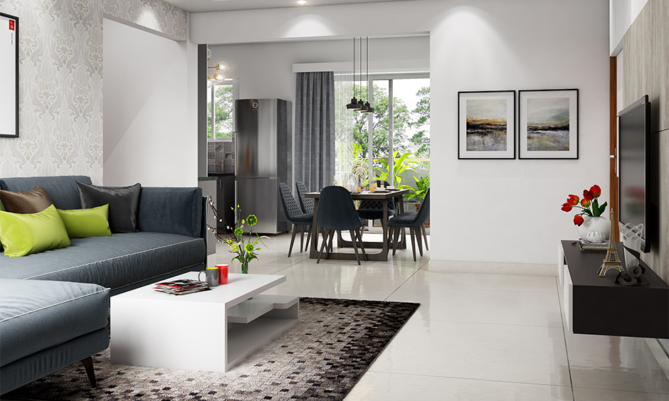 Grey best neutral colour for living room walls and gives space a sleek and professional touch