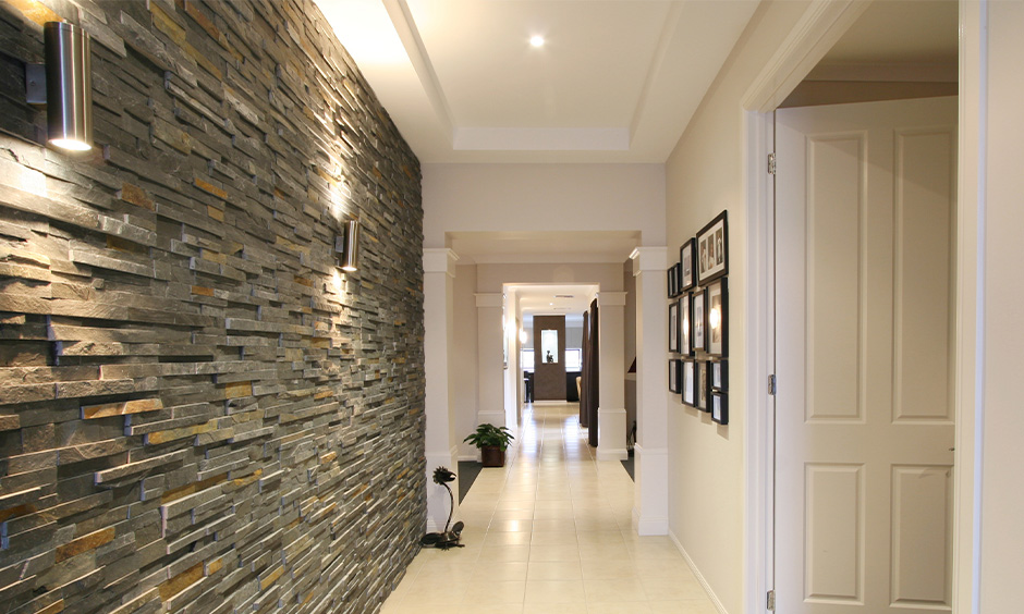 Led lights for hall room, Minimal hall with fancy led lights create a warm and welcoming glow
