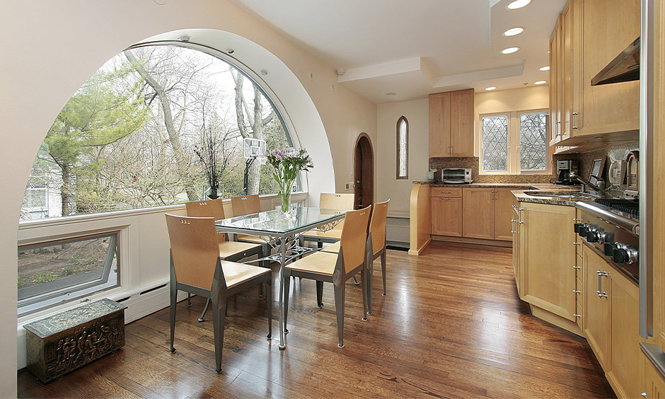 Window simple kitchen arch design to transform the area into a french inspired nook
